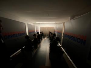 So erleben die Besucher die VR-Ausstellung IMPRESSION-DEPRESSION © Robert-Enke-Stiftung