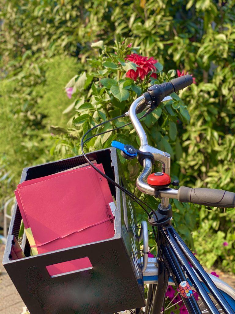 Aktentransport mit Fahrrad statt Auto